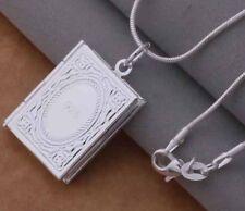 925 Sterling Silver LOCKET Photo Charm Pendant Necklace  Jewllery