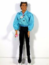 NEW DRESSED BARBIE DOLL USA OLYMPIC SKATER KEN