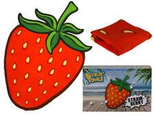 Nouveauté grand fraise fruit en forme de plage bain natation doux Serviette de nouveau dans boîte cadeau