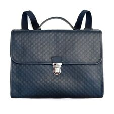 GUCCI Children's GG Microguccissima Leather Backpack Briefcase Bag Navy Blue