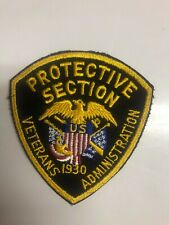 US Veterans Administration Protective Section Police Patch 1st Issue