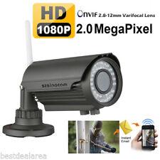 Szsinocam 1080P 2.8-12mm Sans Fil WIFI IP Caméra ONVIF CCTV Sécurité IR Nocturne