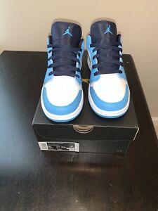 Nike Air Jordan 1 Low UNC Powder Blue Obsidian 553558-144 GS Size 6Y W/Receipt