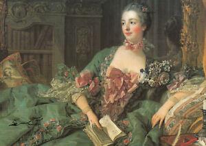 Postkarte: Boucher - Madame Pompadour mit Buch