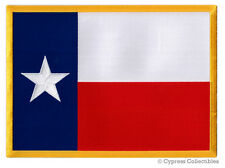 LARGE TEXAS STATE FLAG PATCH EMBROIDERED IRON-ON EMBLEM LONE STAR REPUBLIC new
