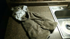 Baby Soft Blanket Wrap Hooded Bathrobe Bath Towel Coral Fleece Robe Bear Hooded