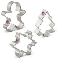 Christmas Cookie Cutter Set 3 piece Ann Clark, Tree, Snowflake, Gingerbread Man