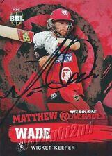 ✺Signed✺ 2015 2016 MELBOURNE RENEGADES Cricket Card MATTHEW WADE Big Bash League