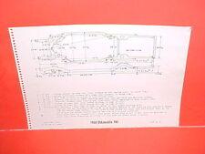 1964 OLDSMOBILE F-85 CUTLASS SUPREME 442 CONVERTIBLE COUPE FRAME DIMENSION CHART