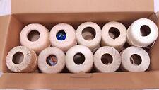 Large lot 10 Ivory Cream & Sizes of Crochet Thread Vintage Tatting