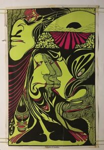 Fantasies Of Invention Original Vintage Blacklight Poster Psychedelic 1960's
