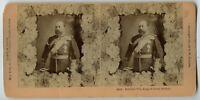 King Edward VII  Vintage Royalty Stereoview Photo 1901