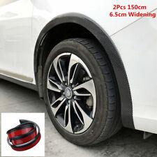2pc 150cm Universal 6.5cm Widening Carbon Fiber Color Car Fender Flare Protector