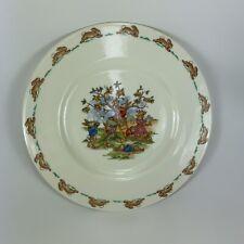 "Bunnykins Royal Doulton Picking Apples 8"" Plate English Fine Bone China"