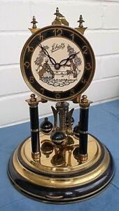ANNIVERSARY 400 DAY CLOCK. MECHANICAL  GERMAN 'SCHATZ'  WORKING. WITH DOME.
