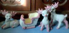 Kimple Ceramic Handcrafted Reindeer & Sleigh 4 Pc. Set Make it Your Traditions!