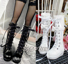 NEW BJD Shoes White/Black bowknot lace combat boot 1/3 SD DZ BJD Dollfie Shoes