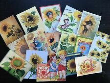 BB20:Vintage images of SunFlowers,flower of love - Die Cuts Scrapbooking