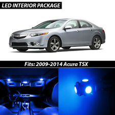 2009-2014 Acura TSX Blue Interior LED Lights Package Kit