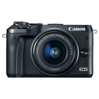 Canon EOS M6 Mirrorless Digital Camera with 15-45mm EF-M IS STM Lens Black