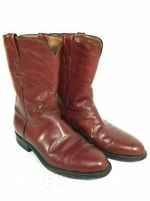 Lucchese Mens Size 9 E Western Cowboy Leather Boots Genuine Model L8005 Made USA
