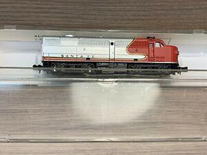 N Scale Model Power Santa Fe 7534 Diesel Locomotive -Tested/Runs