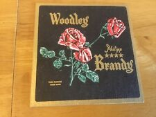 Unusual, Rare Beer Mat/Coaster featuring Woodley Philipp 4 Star Brandy