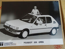 Peugeot 205 Open press photo brochure c1986 Italian text