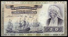 PAYS BAS ; 20 Gulden ; EMMA ; AMSTERDAM le 15.Septembre 1939 ; Pick#53 /L154