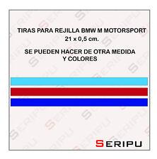 X 3 PEGATINA STICKER DECAL ADHESIVO PARA REJILLA BMW M MOTORSPORT PARRILLA