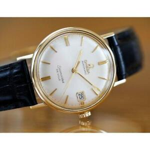 OMEGA Automatic Men Seamaster De Ville 14K Yellow Gold Combi k006