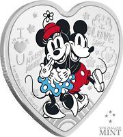 2021 NIUE DISNEY LOVE COIN | HEART SHAPED COIN | ULTIMATE COUPLE - 1 OZ. SILVER