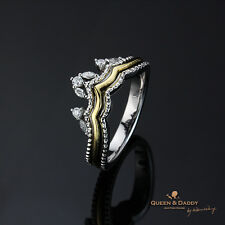 The Muse's Crown - 18K(750) white yellow black gold diamond ring for women
