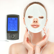 16 Mode Pulse Massager Muscle Stimulator Therapy Tens  Machine + Face& Eye Pads