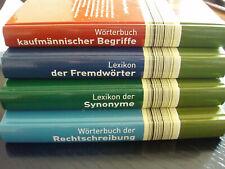 4 Bücher Fachbücher  Lexika Kaufmännisch Fremdwörter Synonyme Rechtschreibung
