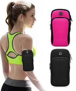 Sports Mobile Arm Phone Holder Bag Running Gym Band Gym Exercise All Phones Keys