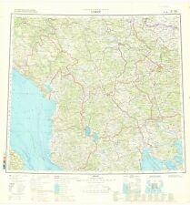 Russian Soviet Military Topographic Maps – SOFIA (Bulgaria), 1:1M, ed. 1979