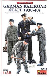 MiniArt German Railroad Staff/ Workers 1930 -1940s, Figures in 1/35 38012 ST A1