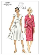 Vogue Sewing Pattern 8784 Misses 6-14 Easy Wrap Dress with Flared Fitted Skirt