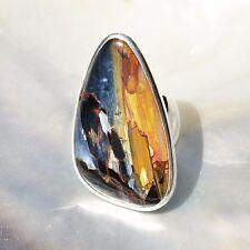 Pietersit Ring, 925er Silber, Edelsteinring (21526), Edelsteinschmuck