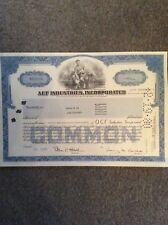ACF Industries 1975 Blue 100 Shares INVALID SHARE CERTIFICATE