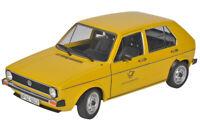 VW GOLF MK1 DEUTSCHE POST YELLOW 5 DR 1:18 SCALE CLASSIC MODEL DIECAST BRAND NEW