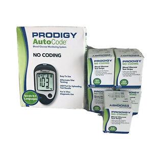 Prodigy No Coding Blood Glucose Monitoring System & 250 Test Strips Bundle New