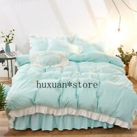 Princess Bedding Set Embroidered Duvet Cover Bed Sheet Queen King Size 3-7pcs