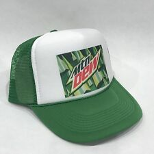 MTN Dew Mountain Dew Soda Pop Trucker Hat Vintage Pepsi Mesh Back Snapback Cap!