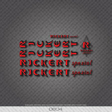 0604 Rickert Bicycle Stickers - Decals - Transfers