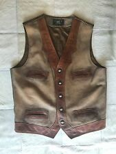 Double RL RRL Ralph Lauren Special Limited Edition Leather Western Vest M