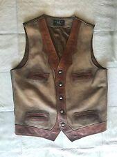 Double RL RRL Ralph Lauren Special Limited Edition Leather Western Vest M