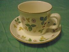 Wedgwood Wild Strawberry EARTHENWARE Oven to Table Flat Cup and Saucer