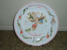 Wedgwood Beatrix Potter Peter Rabbit Christmas Plate 1994, très bon état
